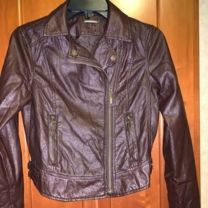 NWOT F2 brown leather jacket